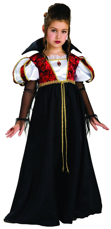 Girls-Royal-V&ira-V&ire-Dracula-Halloween-Fancy-Dress-  sc 1 st  eBay & Girls Royal Vampira Vampire Dracula Halloween Fancy Dress Costume ...