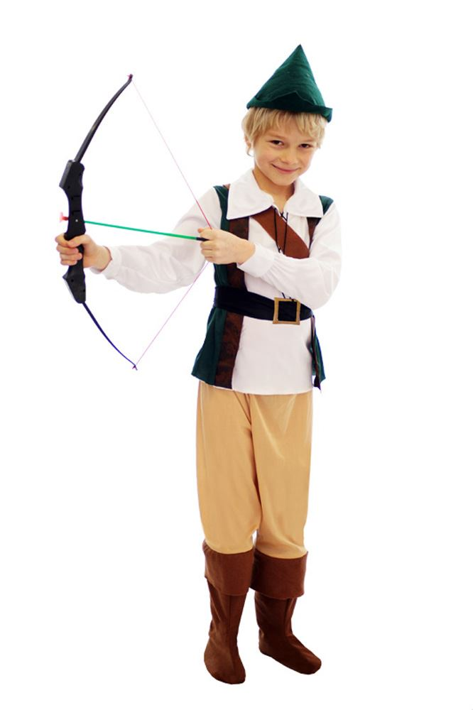 Kids-Boys-Hunter-Robin-Hood-Peter-Pan-Medieval-Book-Week-Fancy-Dress-Costume miniature 4