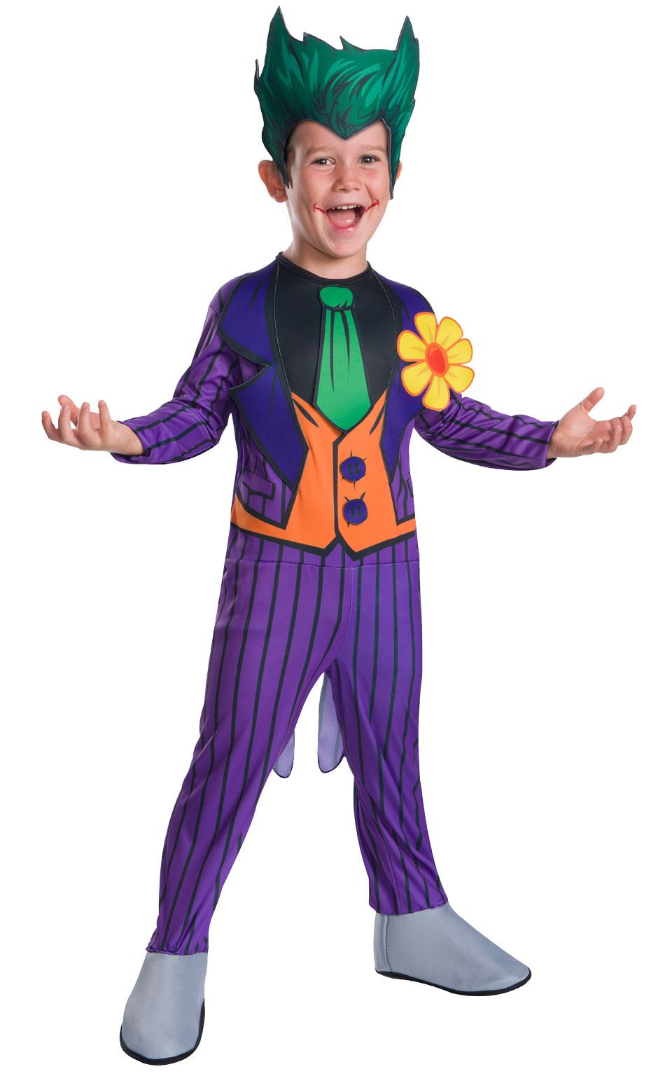 Niños Joker Disfraz DIBUJOS Disfraz de Halloween Batman traje de ...