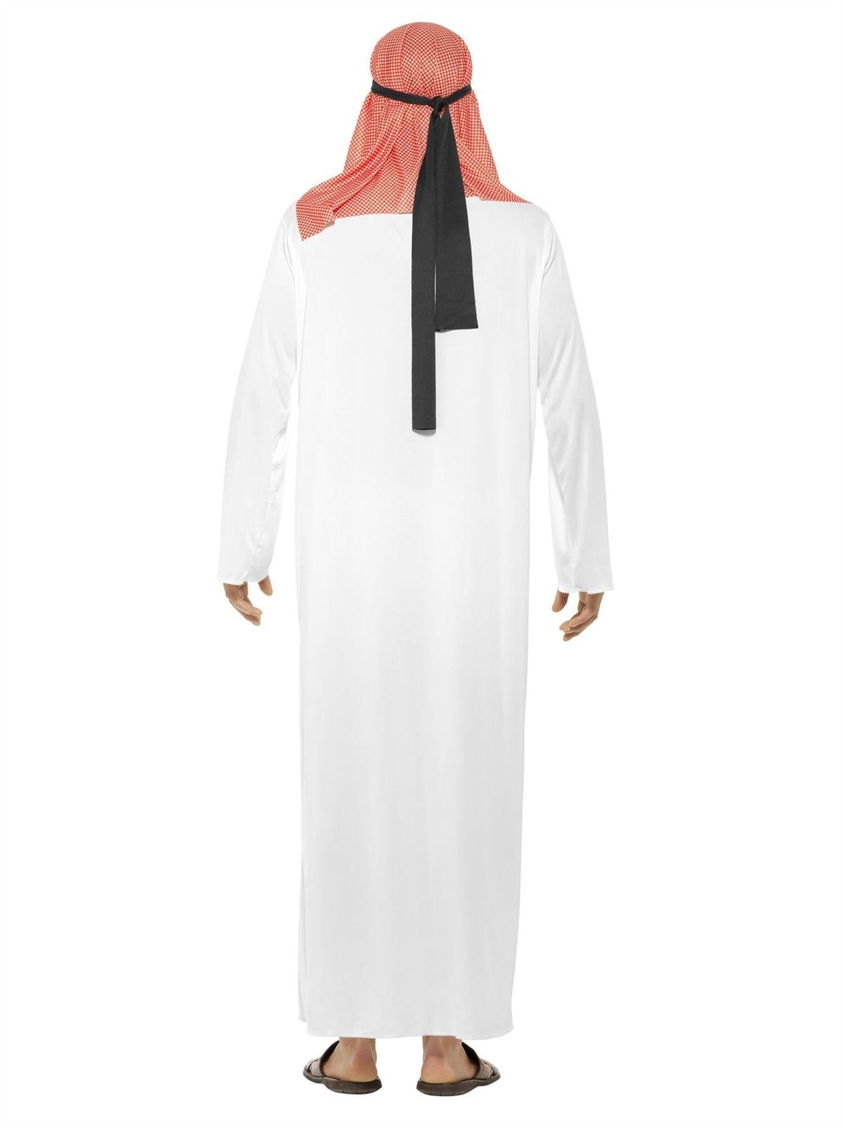 Mens Arab Sheikh Costume Sultan Prince Robe Fancy Dress Outfit