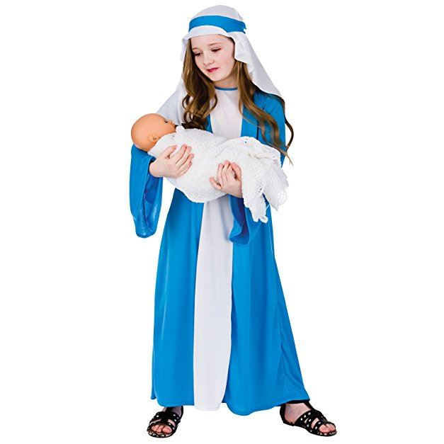 Mary Christmas Womens Costume Fancy Dress One Size Virgin