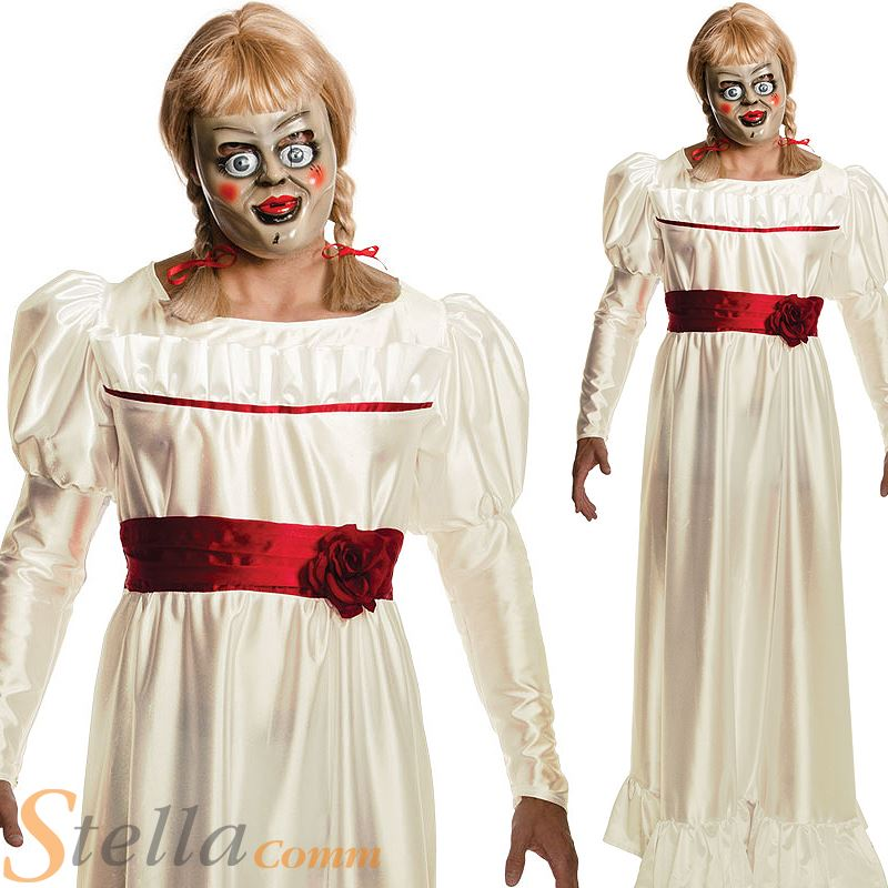 annabelle doll costume the conjuring halloween mens fancy dress outfit
