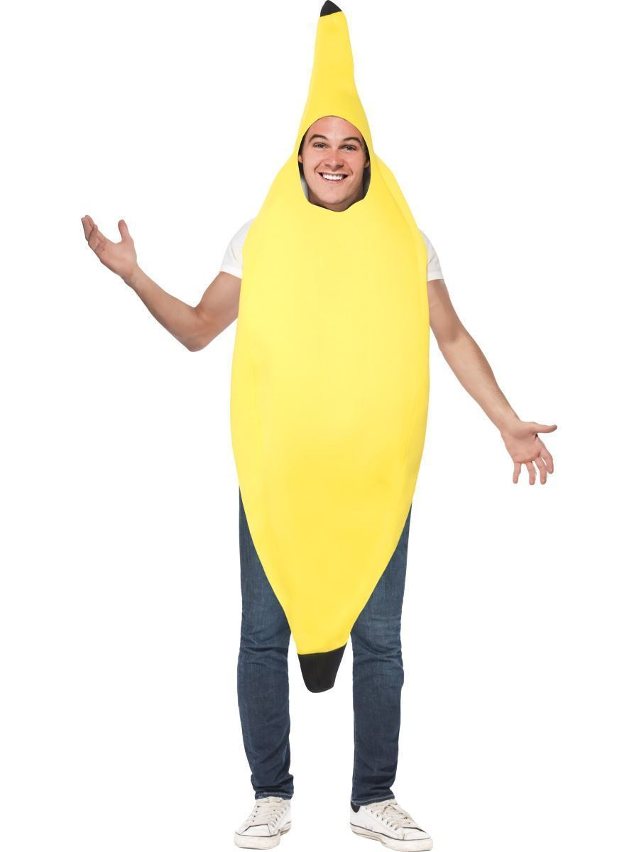 Banana Adults Comedy Costume Stag Night Unisex Fancy Dress One Size