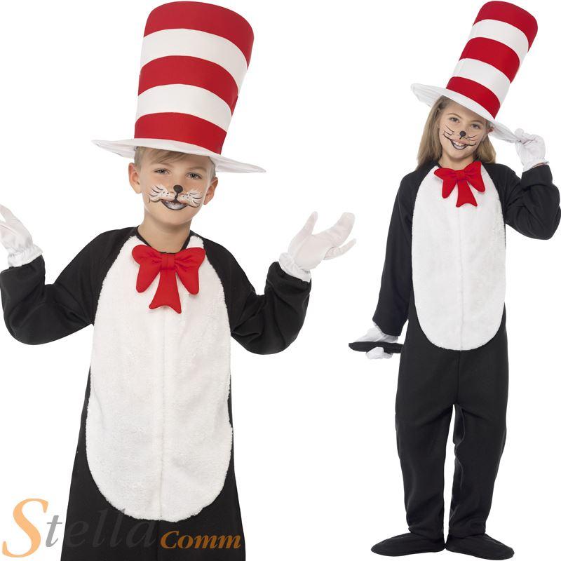 Child Cat In The Hat Costume Book Week Fancy Dress Boys ...