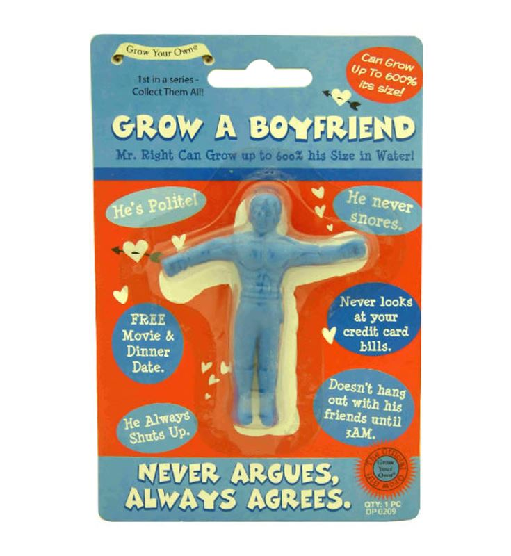 Grow Your Own BOYFRIEND Adult Funny Novelty Joke Gift Valentines