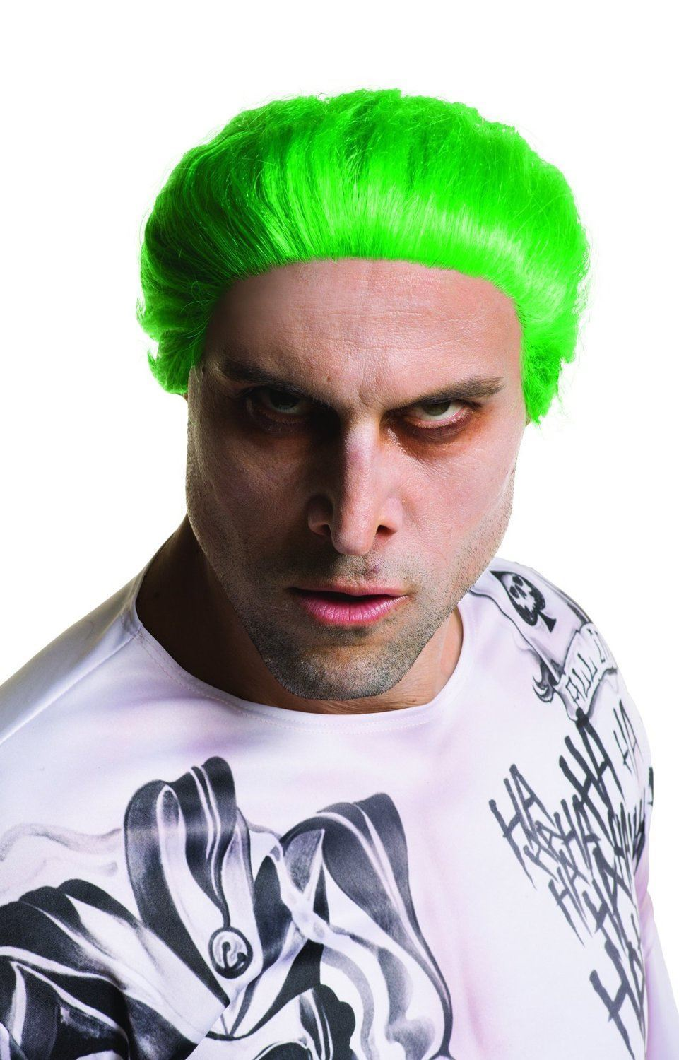 Suicide Squad Joker Wig Official Green Adult Mens Fancy Dress Costume Accessory