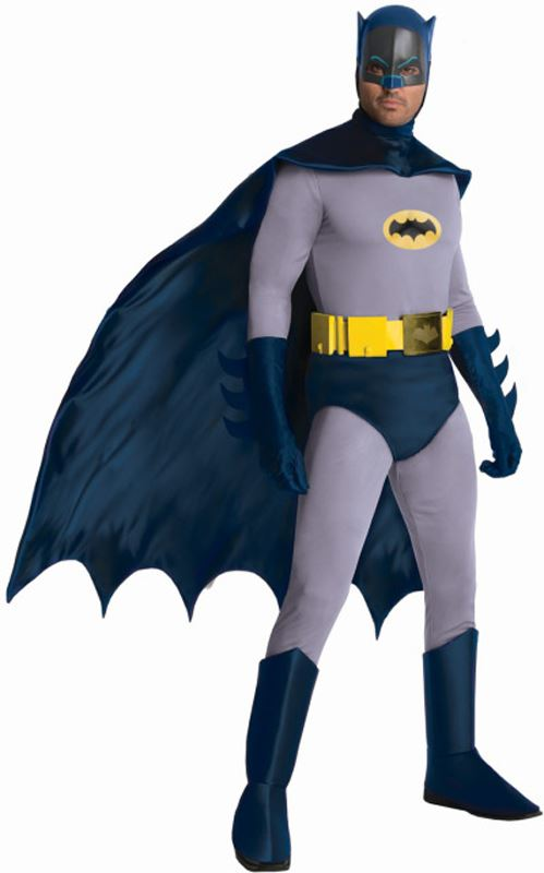 Mens-Grand-Heritage-Batman-Fancy-Dress-Superhero-Character-  sc 1 st  eBay & Mens Grand Heritage Batman Fancy Dress Superhero Character Adults ...