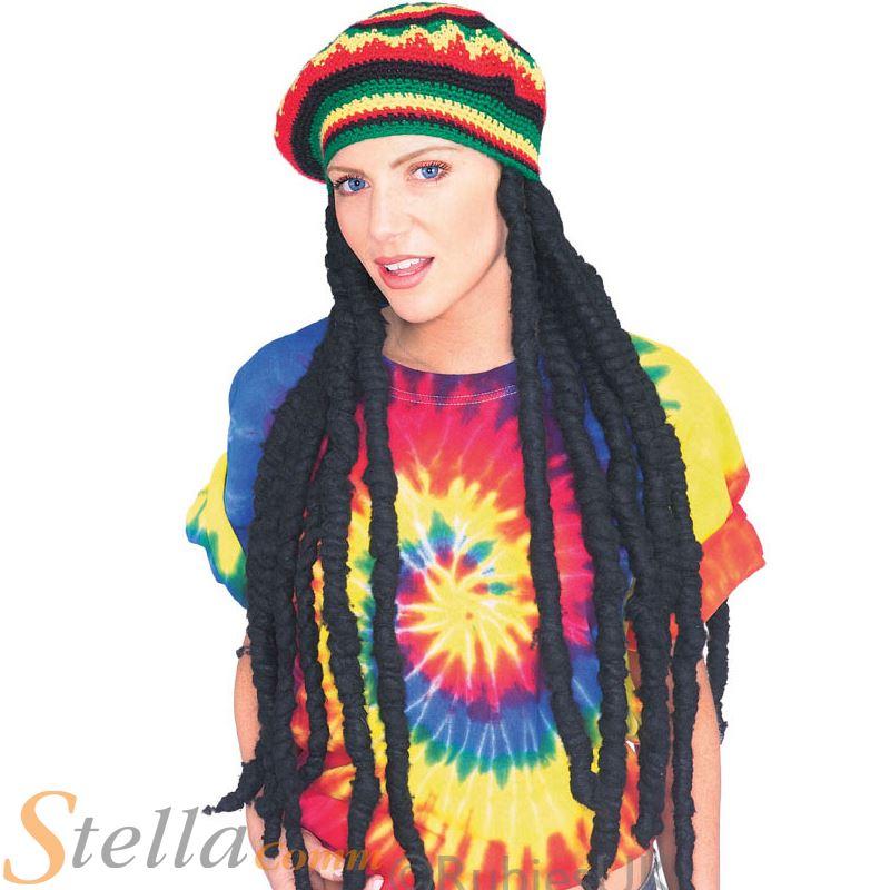 11bad7d77373a Sombrero del rasta con peluca rastas jamaicanos Bob Marley lujo vestido  traje accesorio