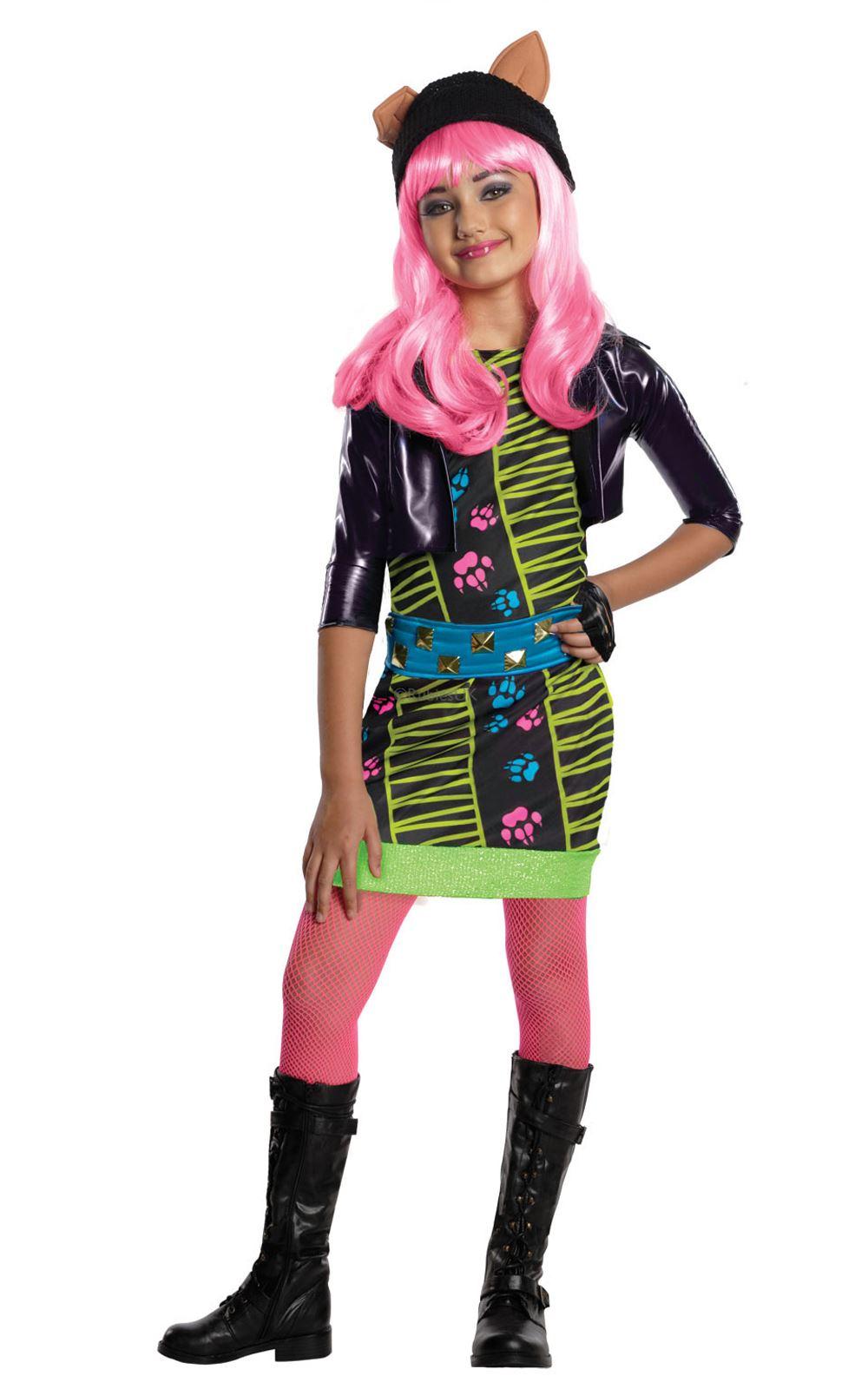girls howleen wolf monster high costume halloween fancy dress child