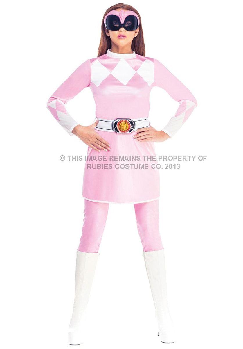 Mujer Rosa POWER RANGER Disfraz Superhéroe Disfraz Adulto Disfraz de ...