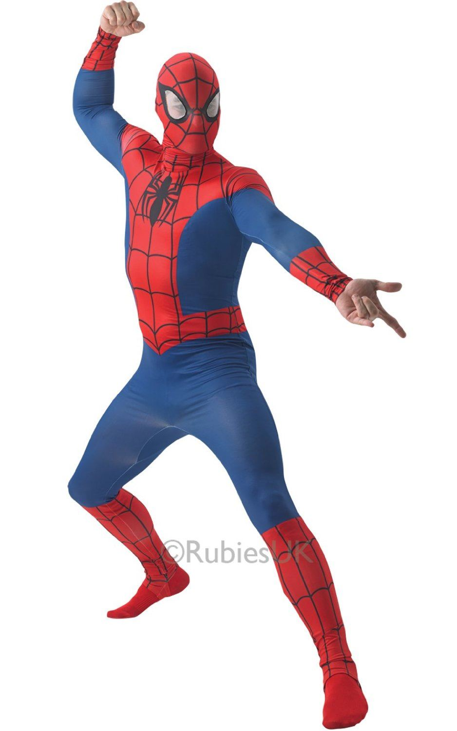 Spider Man Halloween Costume Adults.Details About Mens Spiderman Costume Adult Skin Official Marvel Superhero Fancy Dress Outfit