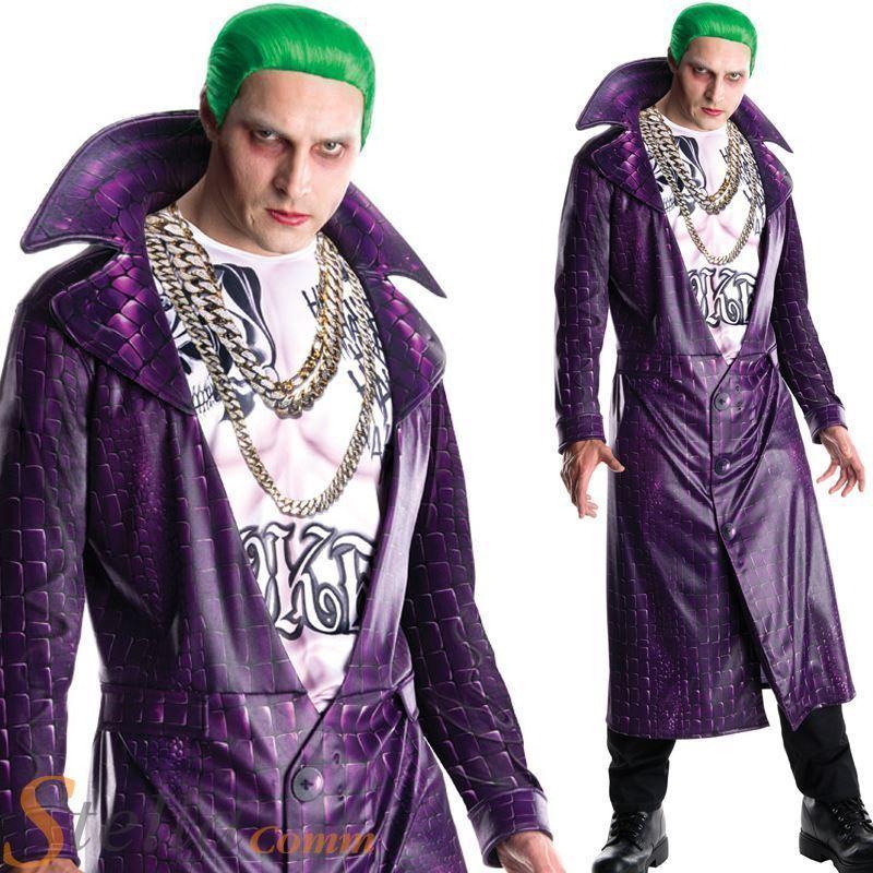 LICENSED DELUXE JOKER SUICIDE SQUAD ADULT MENS FANCY DRESS HALLOWEEN COSTUME