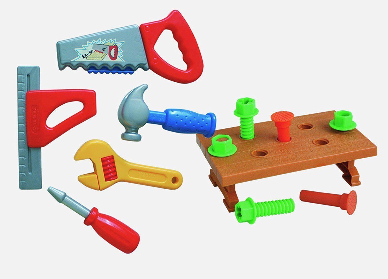 eb679516438d Peterkin Tool Set Carry Case Childrens 13 Piece DIY Builder Toy Playset