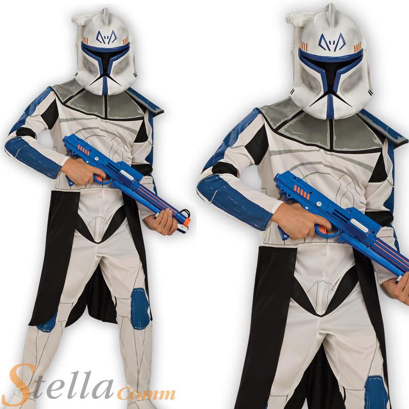 Boys Captain Rex Star Wars Clone Trooper Halloween Book Week Fancy Dress Costume  sc 1 st  eBay & Boys Captain Rex Star Wars Clone Trooper Halloween Book Week Fancy ...