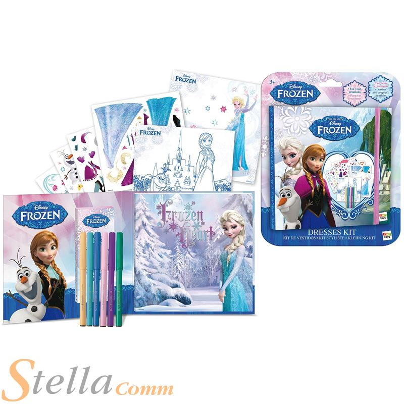 Disney Frozen Vestido Diseño Libreta de Dibujo niñas Chicas Para ...