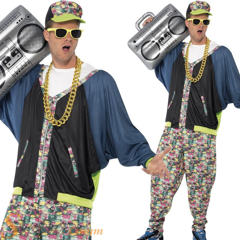 Mens 80s 90s Hip Hop Star Rapper Vanilla Ice Fancy Dress Costume Adult Outfit 692617563056 | eBay
