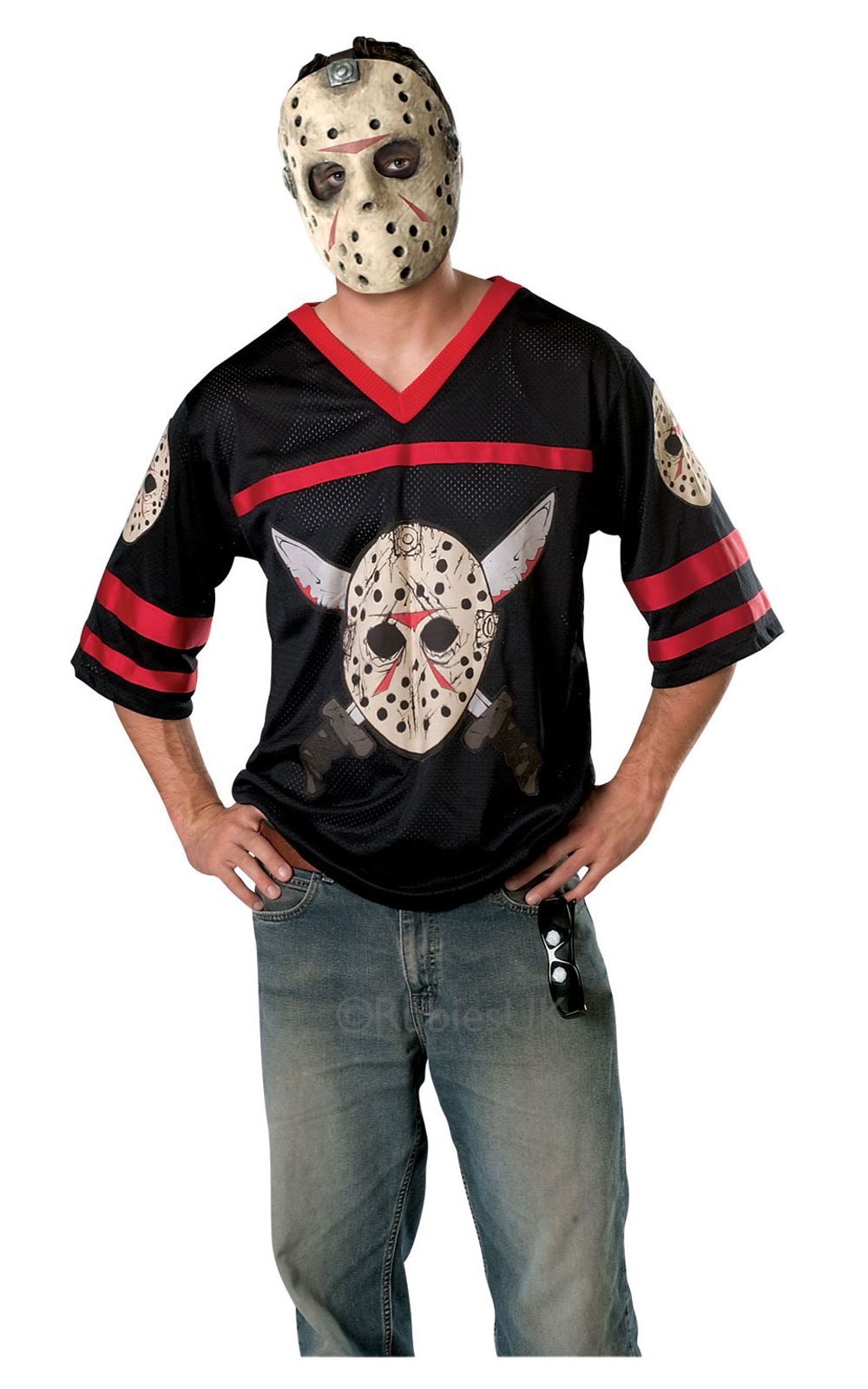 mens jason voorhees friday 13th hockey shirt mask halloween fancy