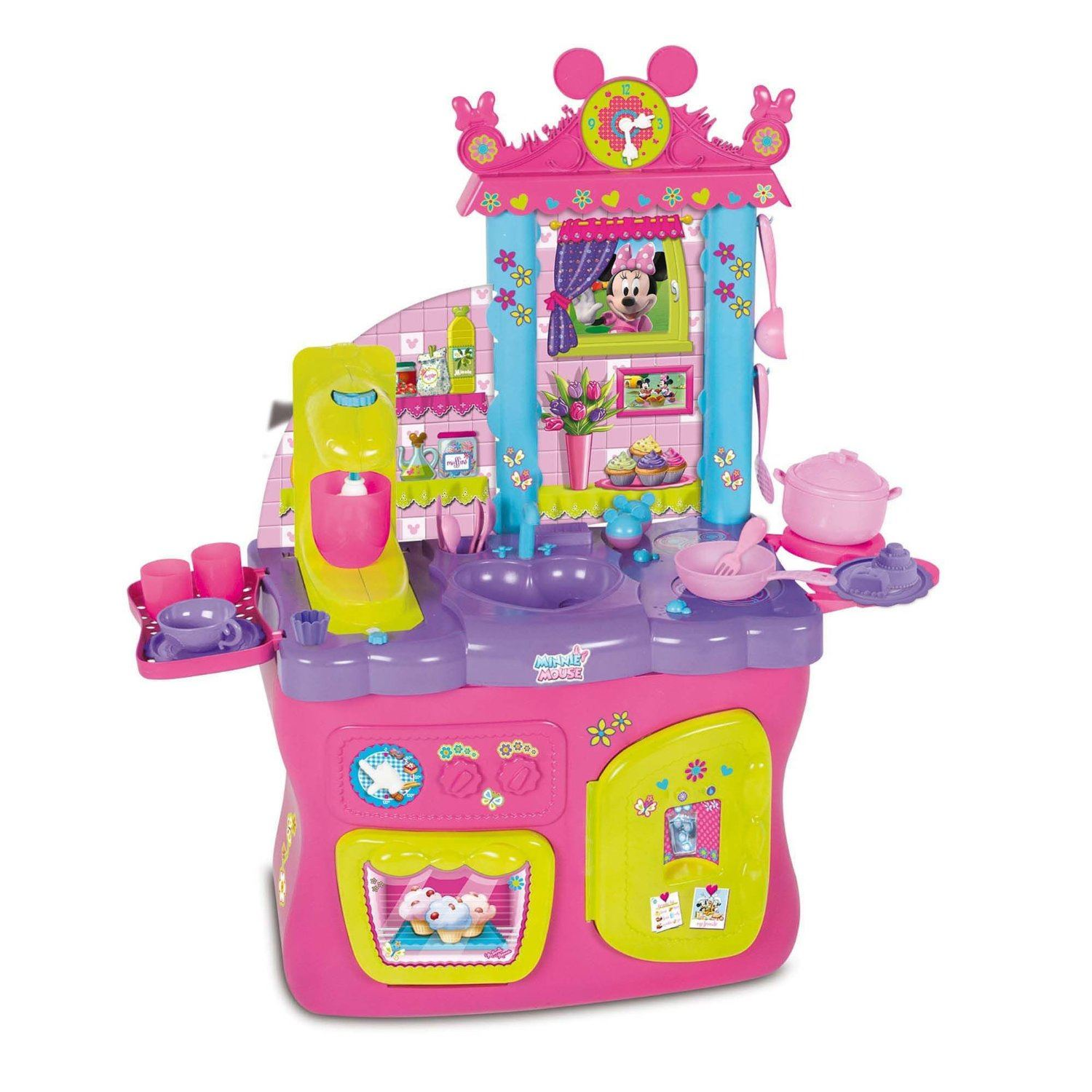 disney minnie mouse kitchen girls toy cooking playset with 17 rh ebay co uk  minnie mouse bowtastic kitchen accessories