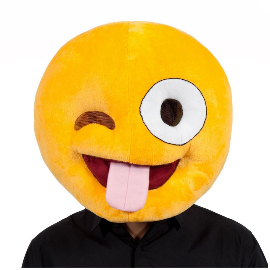 Crazy Emoji Face Mask for Funny Novelty Phone Masquerade Fancy ...