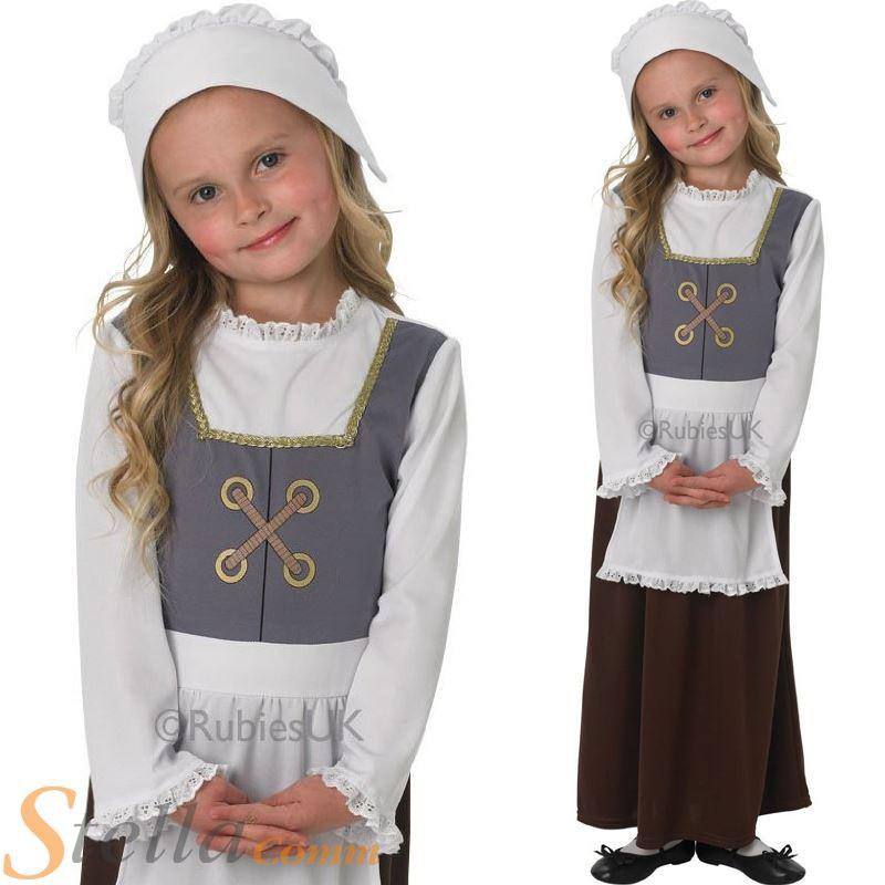 Child Tudor Girl Costume Book Week Fancy Dress Kids Poor ...