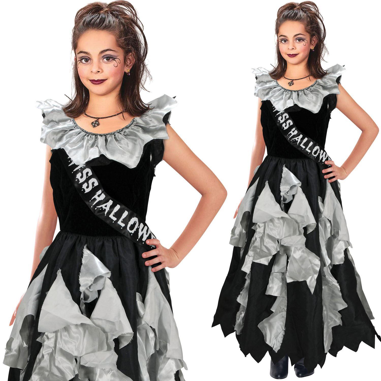 Garçons Filles Enfants Childs Vampire Dracula Perruque Noire Halloween Fancy Dress Costume