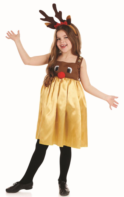 Little Miss Rudolph Disfraz Nina Reno De Navidad Animal Traje De - Disfraz-reno
