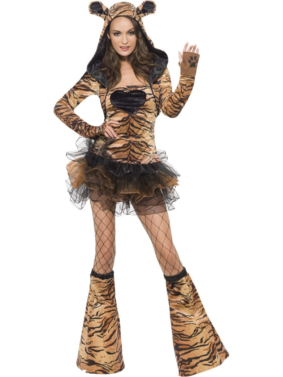 ... Picture 2 of 2  sc 1 st  eBay & Fever Tiger Costume Adult Animal Fancy Dress Womens Outfit UK 4 - 18 ...