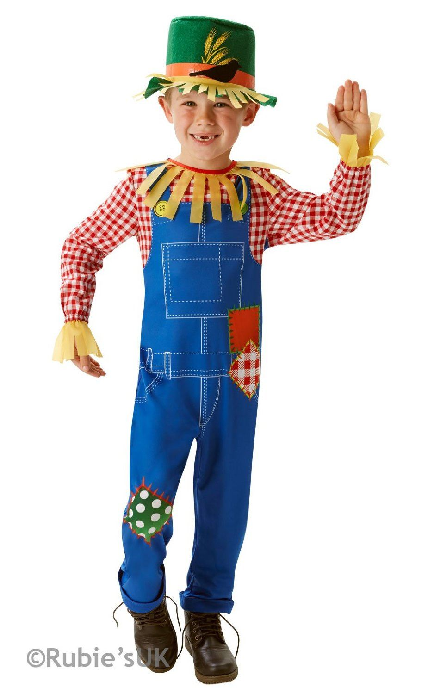 Boys Mr Scarecrow Book Week Fancy Dress Costume Wizard Of Oz Child ...