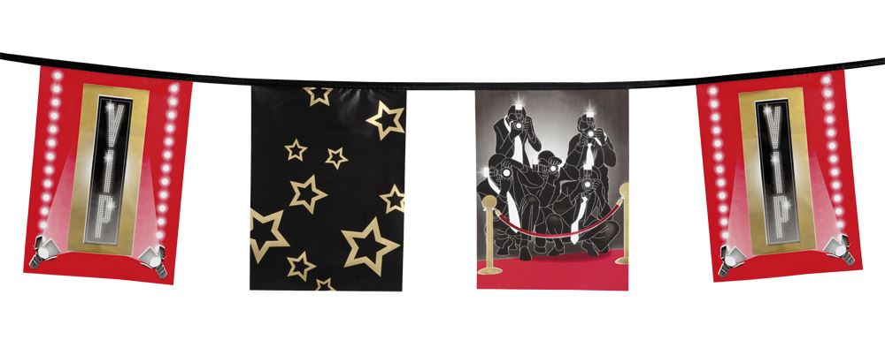 6m Hollywood Banner Party Decorations Celebrities Only Plastic Party Tape