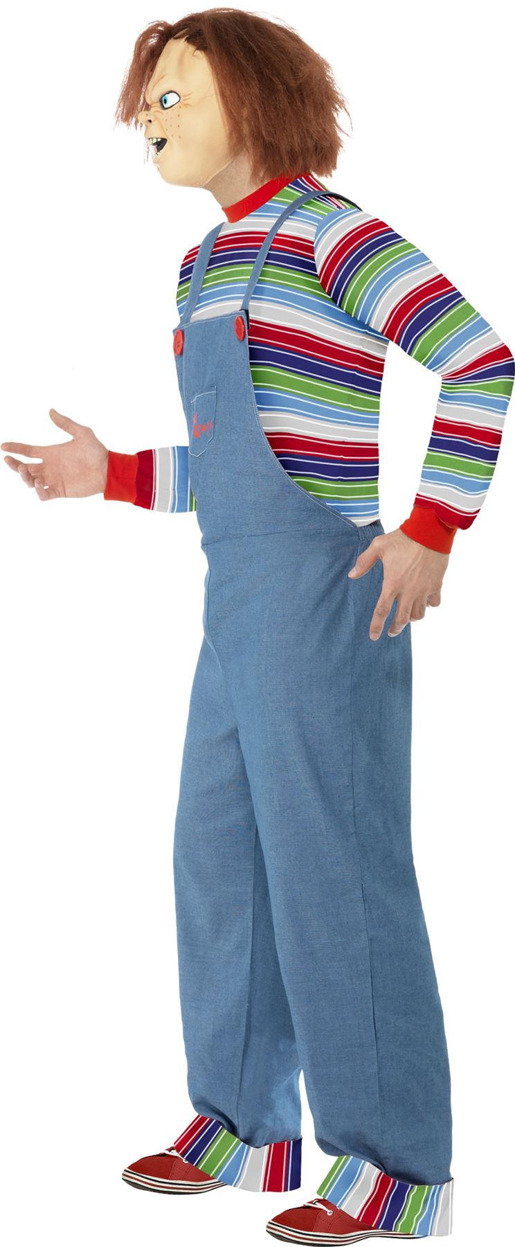 Mens Chucky Costume Halloween Fancy Dress Childs Play Movie Outfit ...