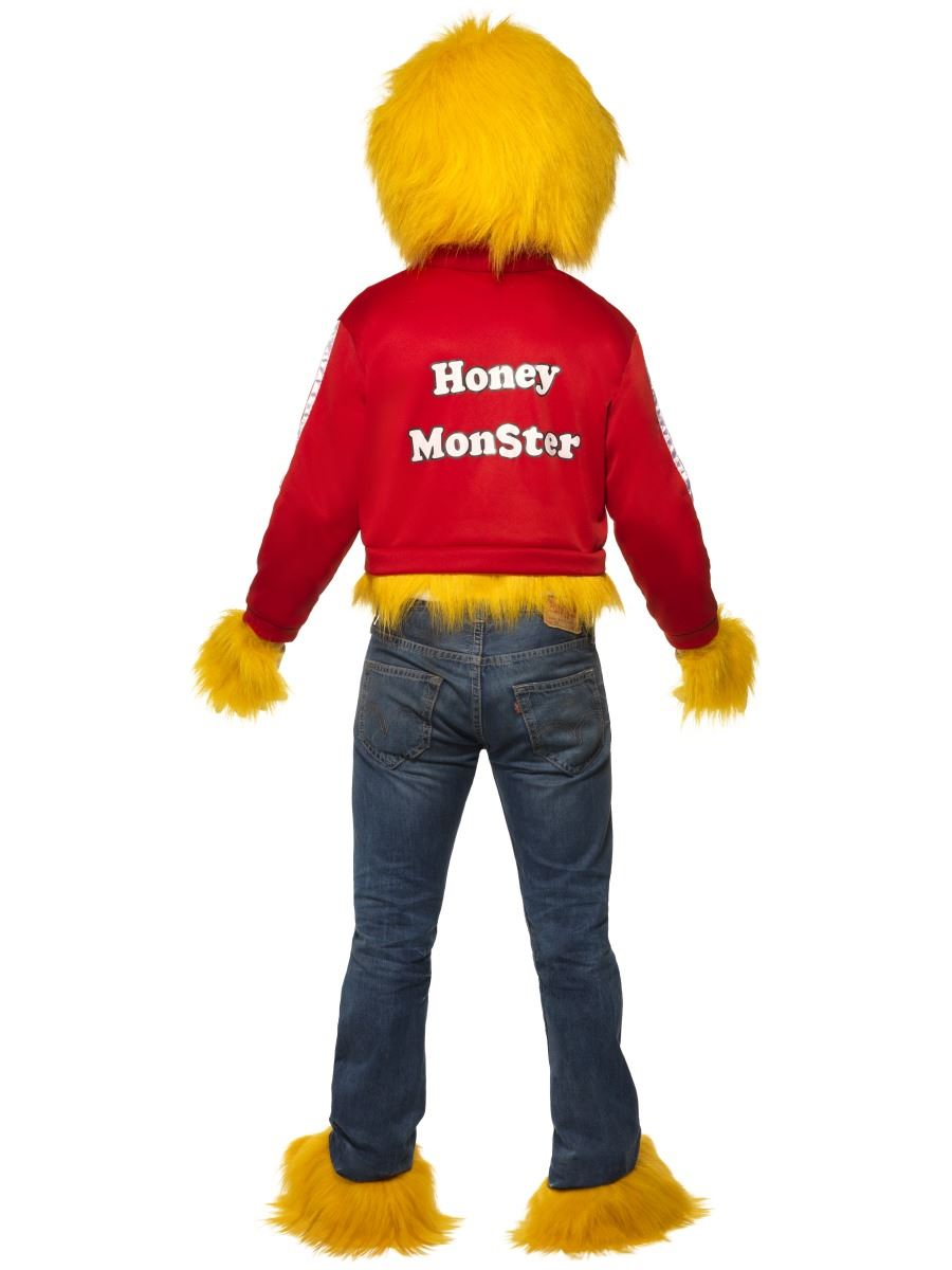 Adult-Honey-Monster-Costume-Halloween-Fancy-Dress-Sugar-  sc 1 st  eBay & Adult Honey Monster Costume Halloween Fancy Dress Sugar Puffs 80s ...