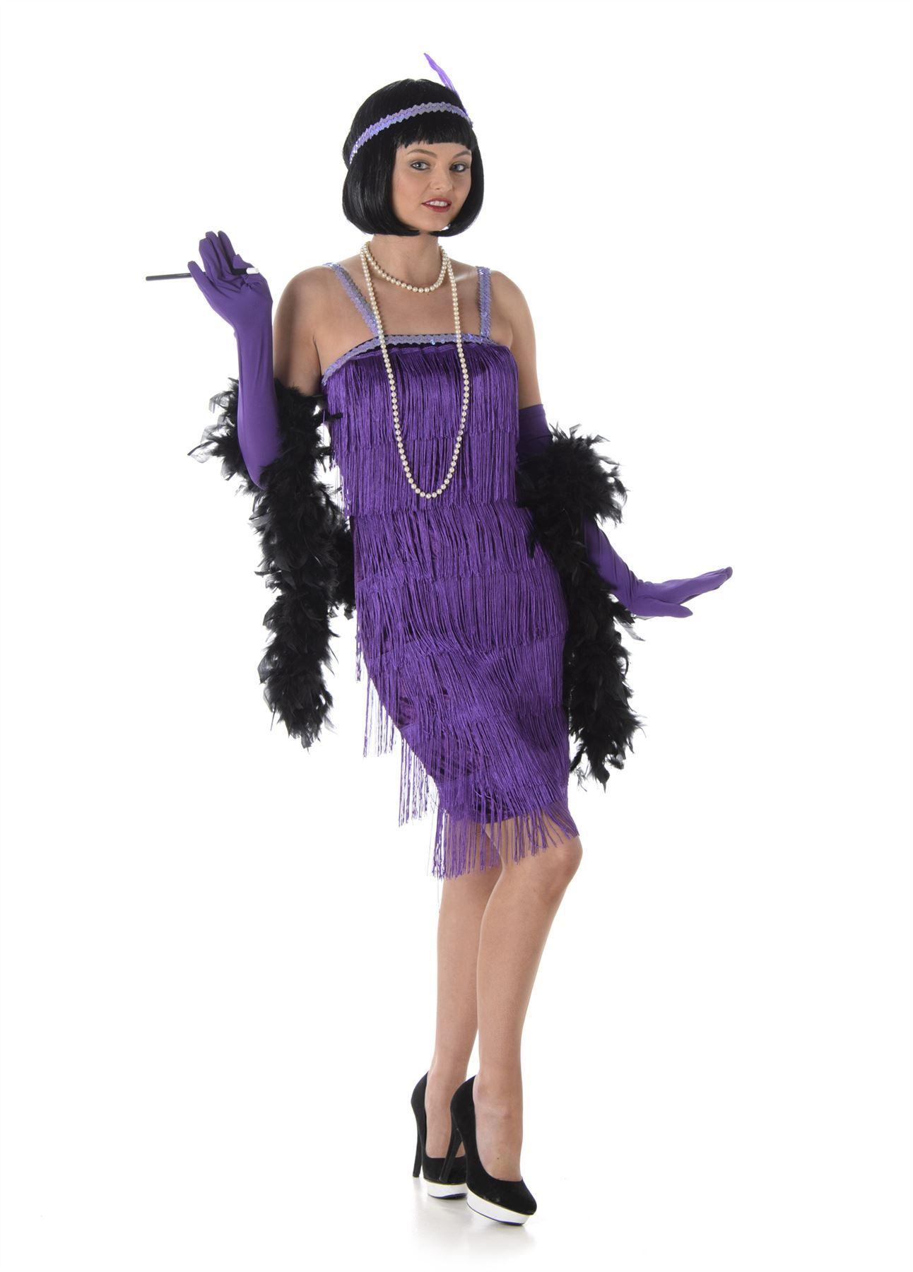 b820c74f3 Ladies Flapper Costume 20s 30s Charleston Great Gatsby Jazz Fancy ...