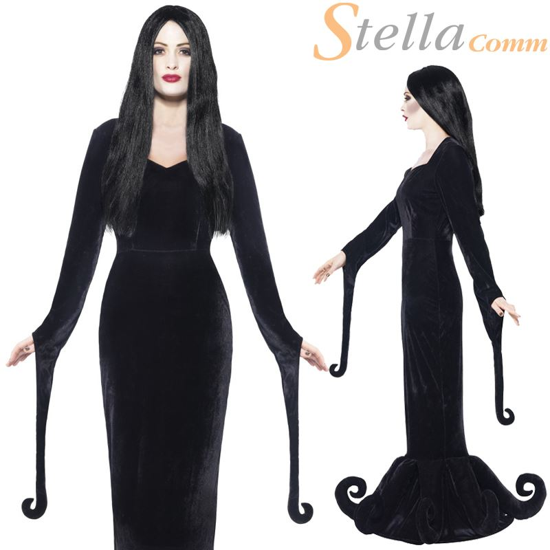 ladies morticia costume adult duchess of the manor halloween fancy dress outfit