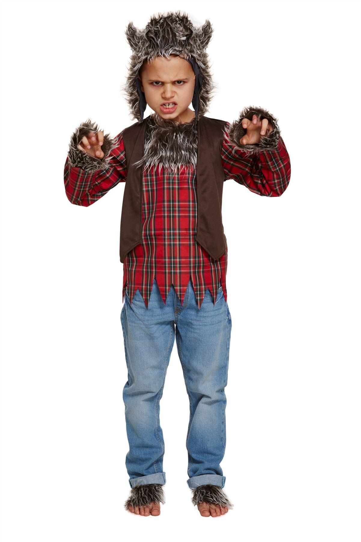 child werewolf costume boys girls halloween wolf fancy dress outfit