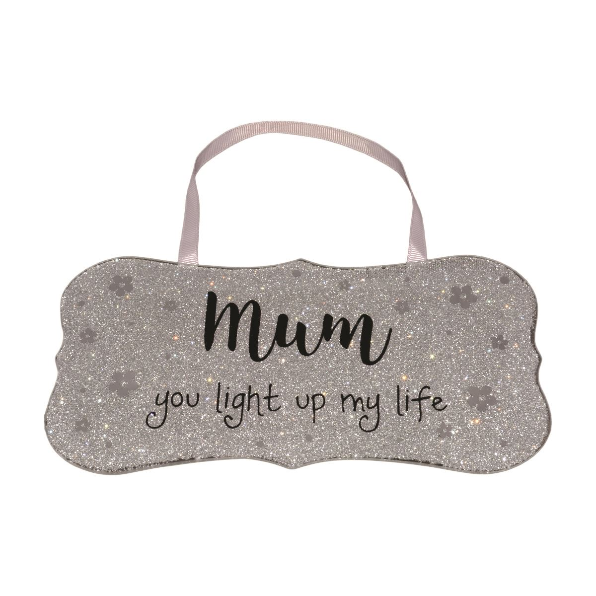 Wall-Hanging-Glass-Plaque-Mirrored-Sparkle-Glitter-Home-Message