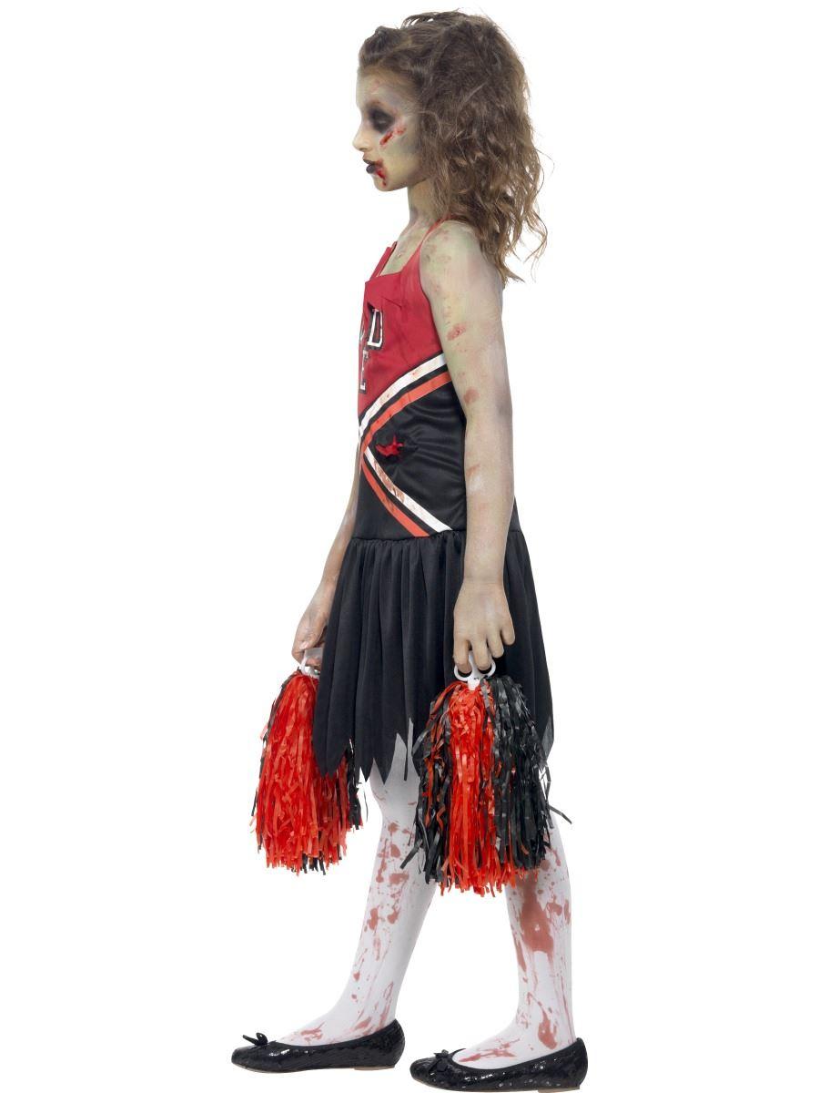 girls zombie cheerleader costume high school halloween fancy