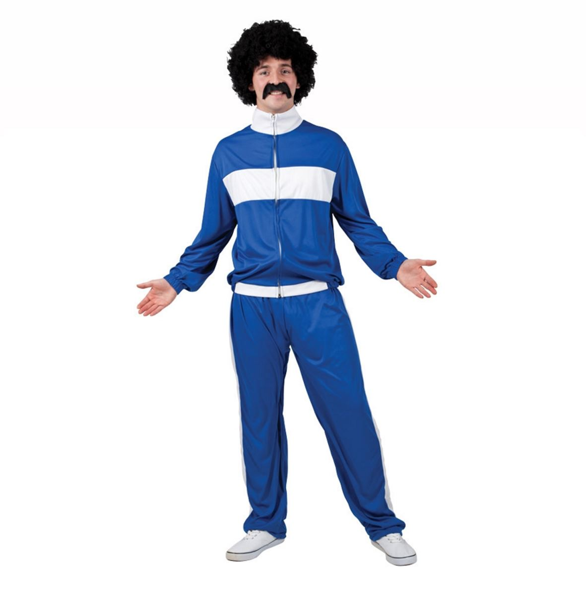 Mens 80s Retro Trackie Costume Adult Shell Suit Scouser ...