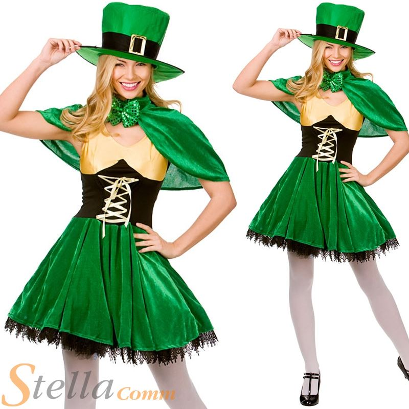 Ladies Lucky Leprechaun Costume Sexy Irish St Patricks Day Fancy Dress Outfit  sc 1 st  eBay & Ladies Lucky Leprechaun Costume Sexy Irish St Patricks Day Fancy ...