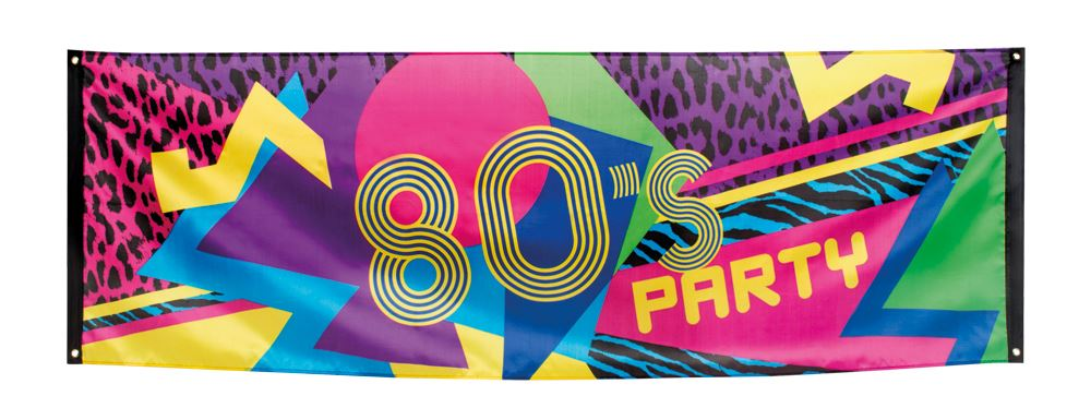 7ft Retro 80s Party Poster Disco Fabric Banner Flag Leopard Print ...