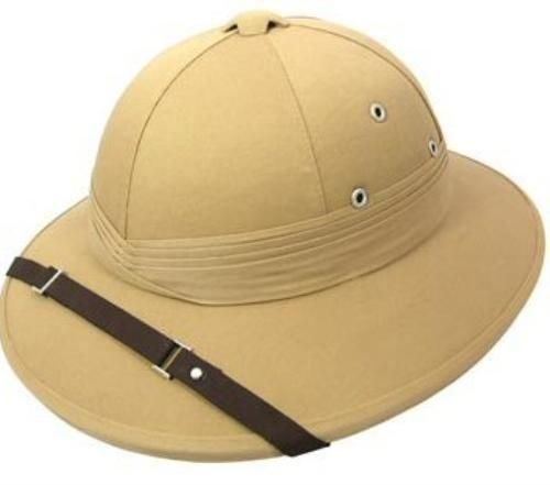 sports shoes 2f41d 80c1b Details about Safari Pith Khaki Deluxe Explorer Hunter Helmet Hat Fancy  Dress Adult