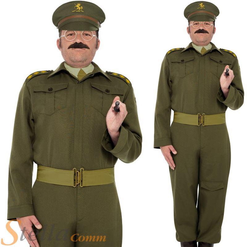 83df2f65e52 Mens Home Guard Captain Dads Army War Fancy Dress Costume WW2 30s ...