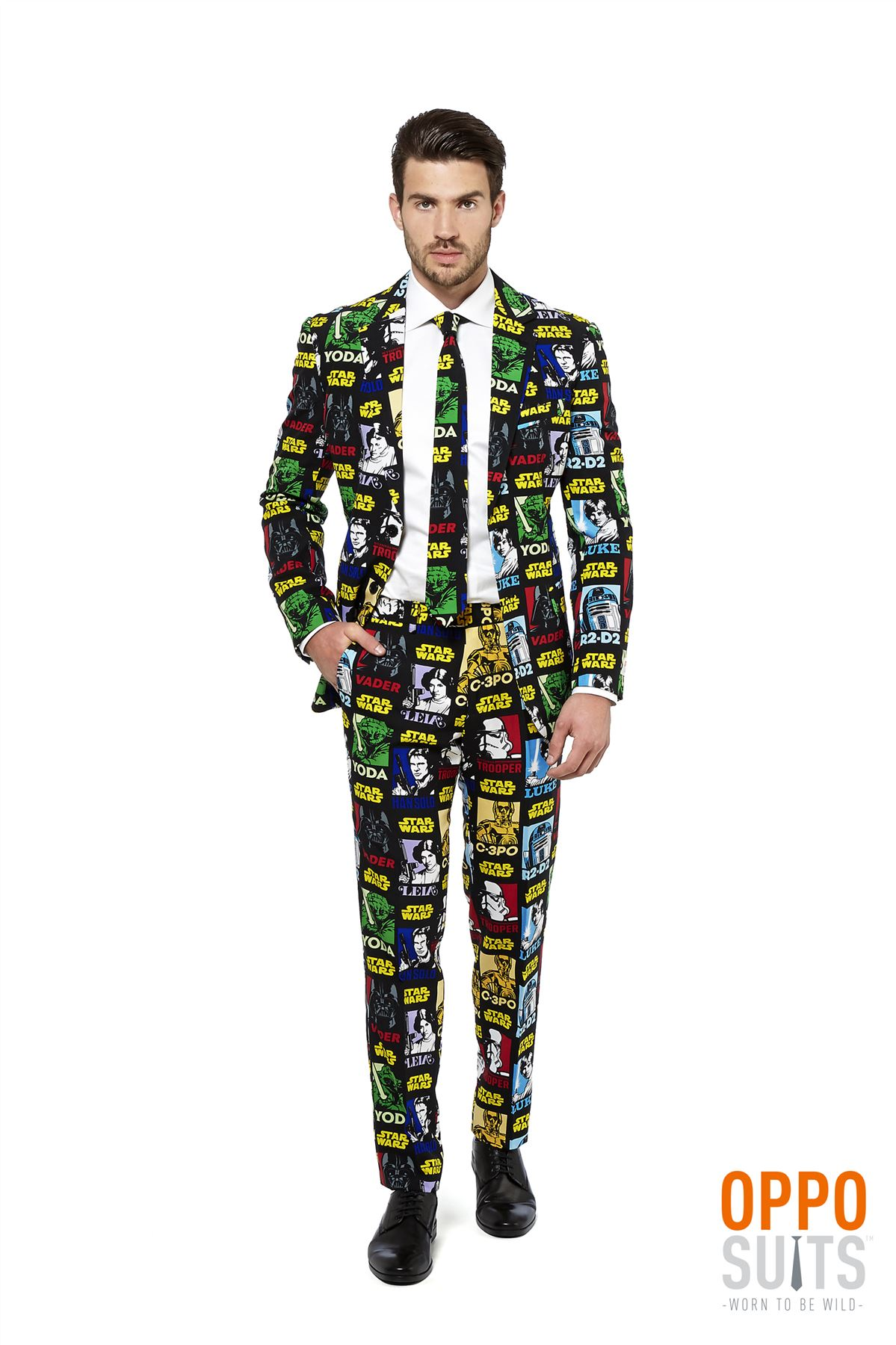 Mens Star Wars Strong Force Opposuit Fancy Dress Costume Suit Adult ...