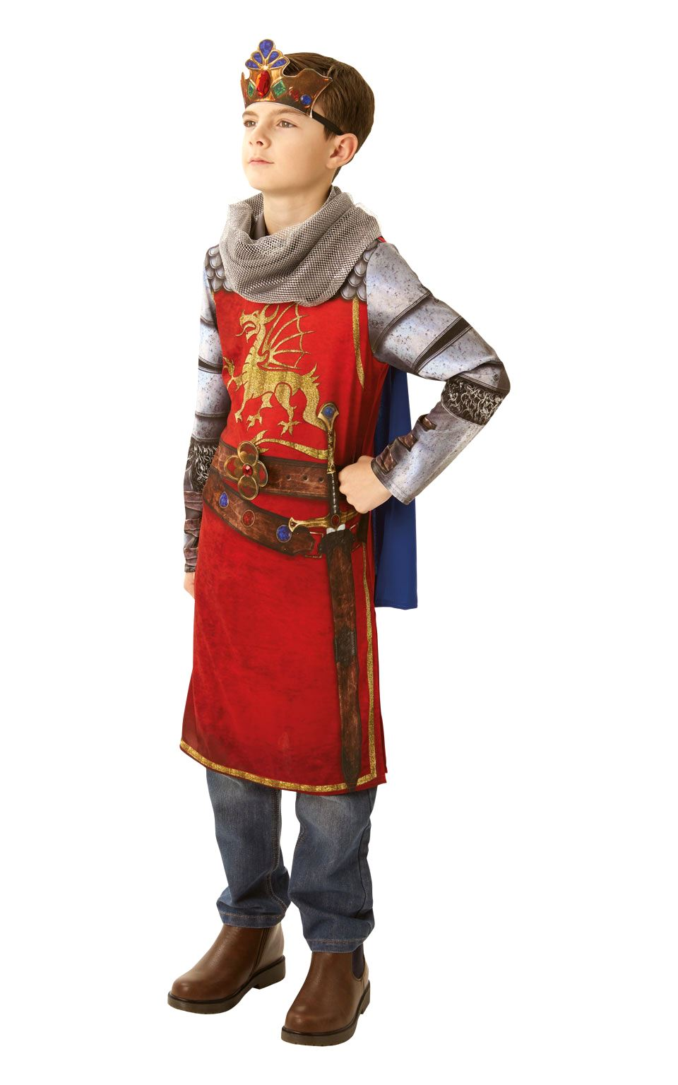 Boys-Deluxe-King-Arthur-Costume-Medieval-Prince-Child-  sc 1 st  eBay & Boys Deluxe King Arthur Costume Medieval Prince Child Fancy Dress ...