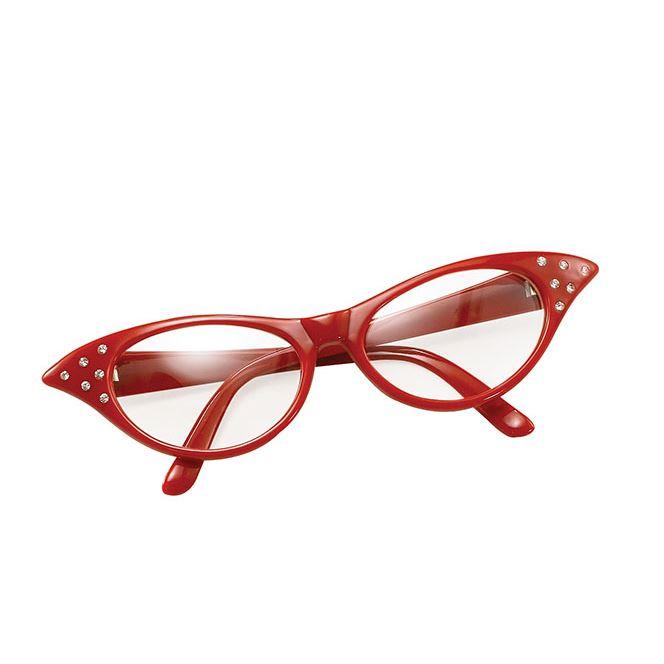 Ladies-50s-60s-Rock-N-Roll-Glasses-Grease-Dame-Edna-Specs-Fancy-Dress-Accessory