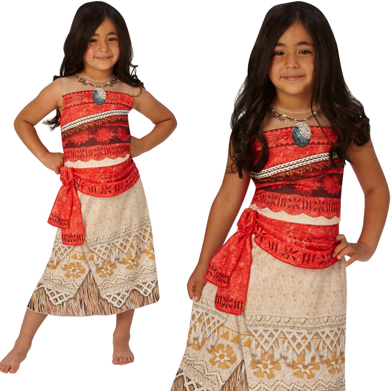 Girls Classic Moana Costume Hawaiian Disney Princess Fancy Dress Book Day Outfit  sc 1 st  eBay & Girls Classic Moana Costume Hawaiian Disney Princess Fancy Dress ...