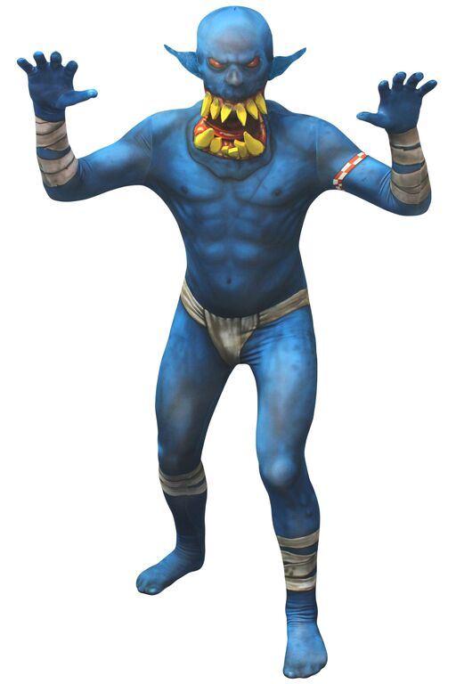Hombre-Adulto-Morphsuits-Halloween-Monster-Horror-Disfraz-Trajes