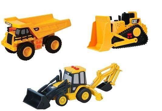 Details about CAT Caterpillar Toy Digger Truck Bulldozer Construction  Vehicles Lights & Sounds