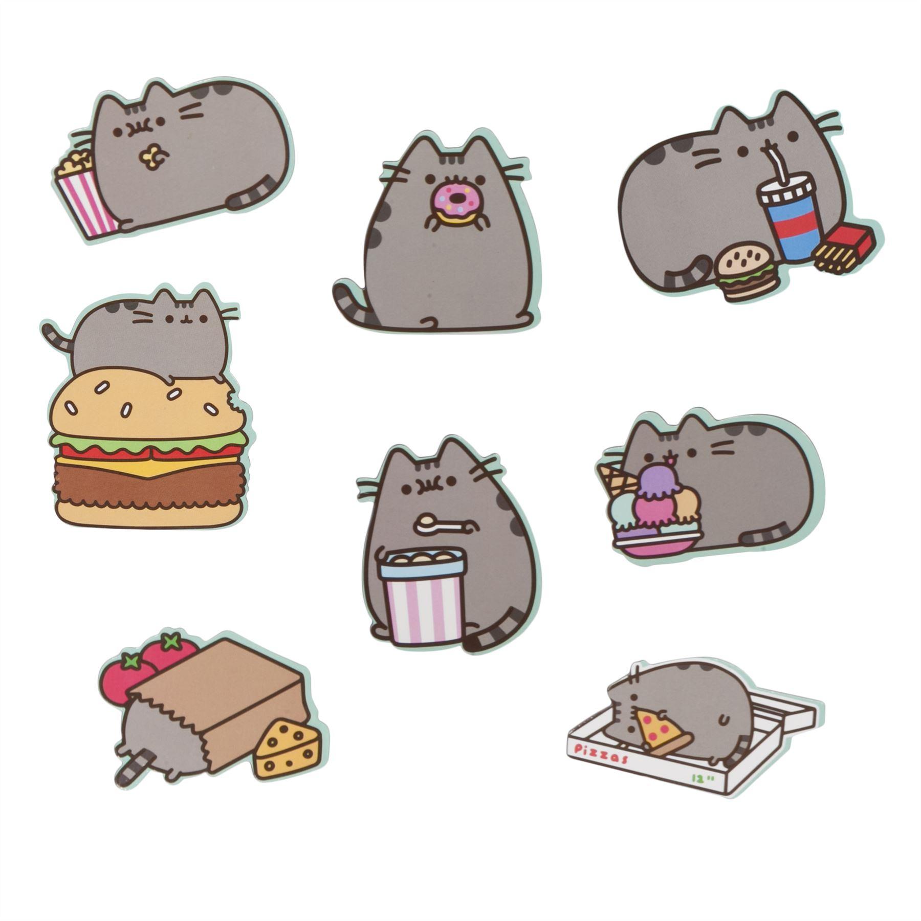 Pusheen The Cat Fridge Magnets Set Of 8 Home Kitchen Gift ...