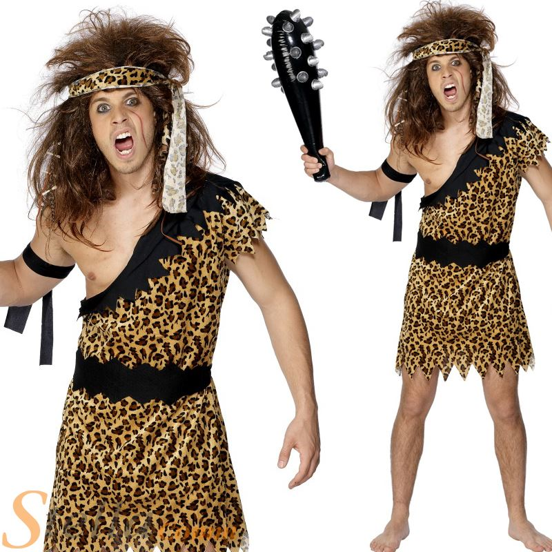 Mens Caveman Tarzan Jungle Fancy Dress Costume Stag Do Cave Man Adult Outfit  sc 1 st  eBay & Mens Caveman Tarzan Jungle Fancy Dress Costume Stag Do Cave Man ...