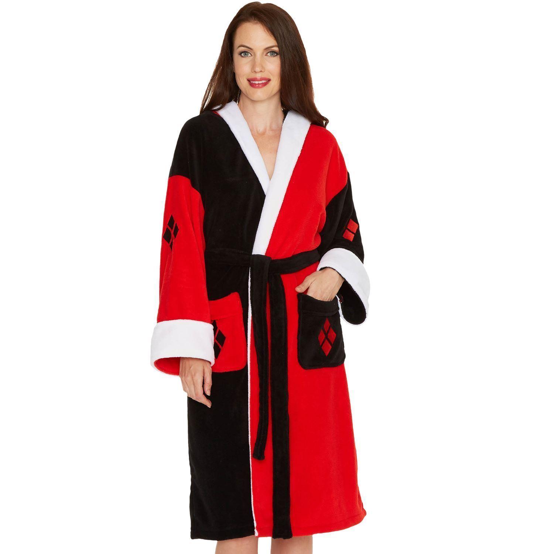 Ladies Harley Quinn Bathrobe Official DC Comics Dressing Gown ...
